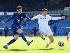 Kai Havertz, left, played as Chelsea's number nine at Leeds (Laurence Griffiths/PA)