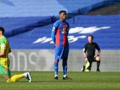 Wilfried Zaha stood while other players took a knee (Mike Hewitt/PA)
