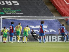 Crystal Palace captain Luka Milivojevic scored the only goal of the game against West Brom (Ian Walton/PA)