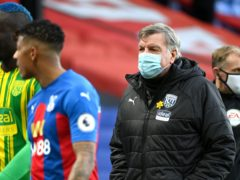 Sam Allardyce says West Brom need to win six of their final nine games to stay up (Andy Rain/PA)