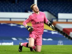 Everton goalkeeper Jordan Pickford pulled up hurt against Burnley (Peter Powell/PA)