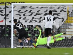 Sergio Aguero scored his first Premier League goal since January 2020 (Justin Setterfield/PA)
