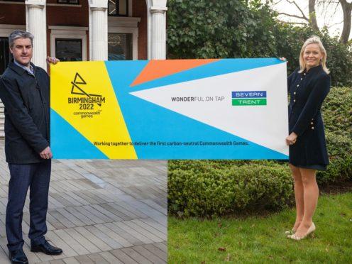 Ian Reid, CEO of Birmingham 2022 Commonwealth Games and Liv Garfield, CEO of Severn Trent (Birmingham 2022/PA)