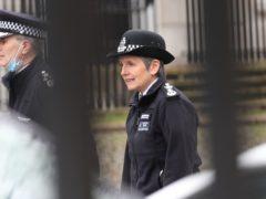 Metropolitan Police Commissioner Dame Cressida Dick arrives at New Scotland Yard in London (Yui Mok/PA)
