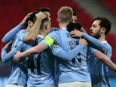 Manchester City finished off Borussia Monchengladbach to reach the Champions League quarter-finals (Trenka Atilla/PA)