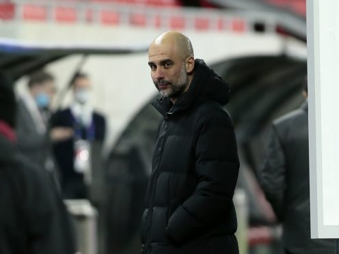 Manchester City manager Pep Guardiola is not thinking about trophies yet (Trenka Atilla/PA)
