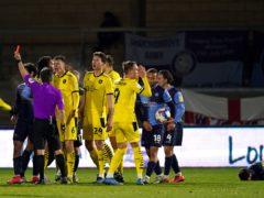 Alex Mowatt was sent off for Barnsley (John Walton/PA)