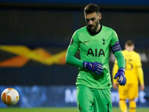Hugo Lloris was scathing about his side after Tottenham went out of the Europa League (Darko Bandic/AP)