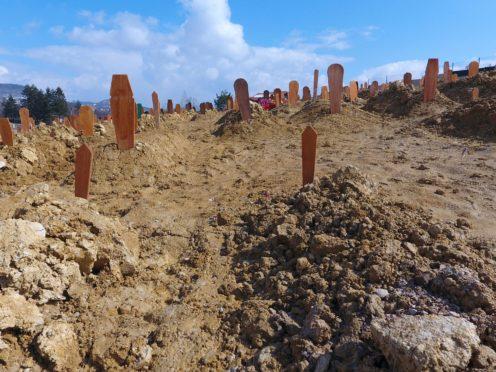 View of graves at Sarajevo cemetery Vlakovo, Bosnia (AP Photo)