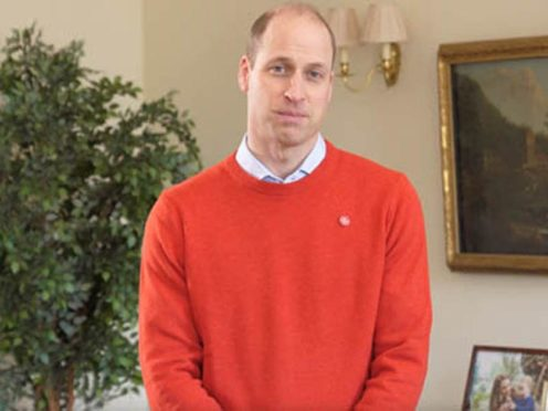 The Duke of Cambridge has recorded a special message for Comic Relief's night of TV (Kensington Palace)