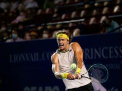 Alexander Zverev did not let an earthquake stop his progress (Rebecca Blackwell/AP)