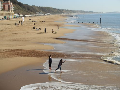 Bournemouth beach (Adam Davy/PA)