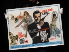 Poster for the 1963 James Bond film From Russia With Love (Andrew Matthews/PA)