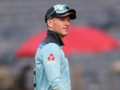 Eoin Morgan is an injury doubt for Friday's second ODI (Rafiq Maqbool/AP)