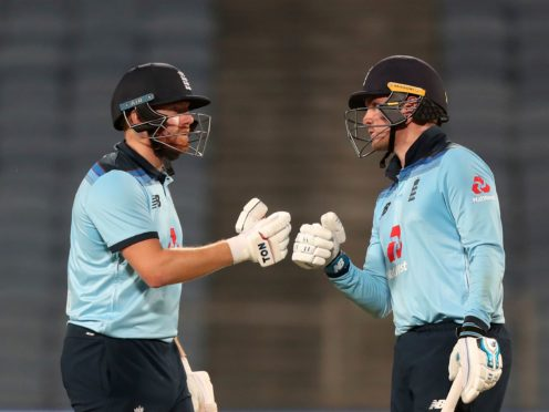 Jonny Bairstow, left, top-scored for England in the first ODI (Rafiq Maqbool/AP)