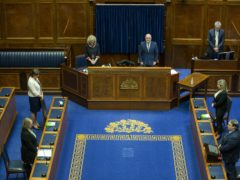 A minute's silence in the Assembly Chamber at Parliament Buildings in Stormont (Liam McBurney/PA)
