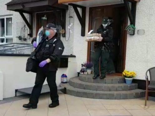 Officers in the Carrickfergus area (NCA/PA)
