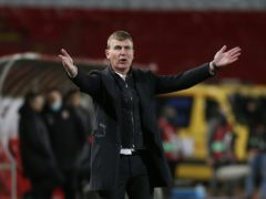 Republic of Ireland manager Stephen Kenny was convinced his side should have been awarded a penalty in Belgrade (Novak Djurovic/PA)
