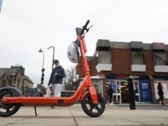 One of the e-scooters in Jesmond, Newcastle (Owen Humphreys/PA)