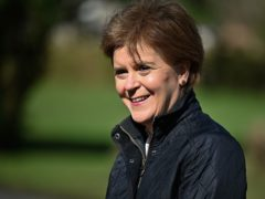 Nicola Sturgeon said the SNP would work to set up a National Care Service if re-elected to power at Holyrood (Jeff J Mitchell/PA)