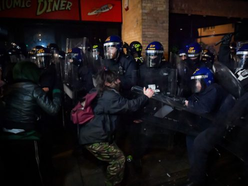 There have been three Kill the Bill demonstrations in Bristol and each has turned violent (Ben Birchall/PA)