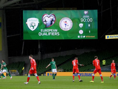 The Republic of Ireland are looking to bounce back from their 1-0 World Cup qualifier defeat by Luxembourg (Brian Lawless/PA)