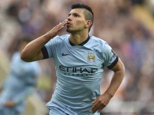 Sergio Aguero has scored a club record 257 goals for Manchester City (Owen Humphreys/PA)