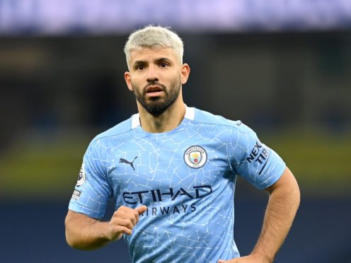 Sergio Aguero will leave Manchester City in the summer (Michael Regan/PA)