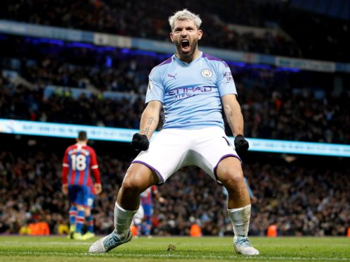 Sergio Aguero has scored 257 goals in 384 appearances for Manchester City (Martin Rickett/PA)