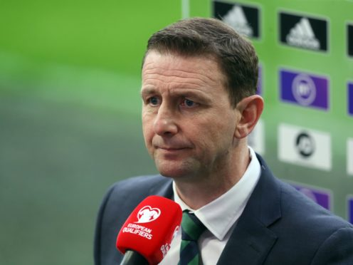 Ian Baraclough was left to reflect on a missed opportunity against Bulgaria (Brian Lawless/PA)