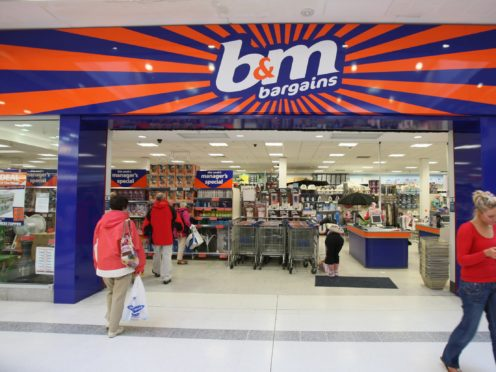 B&M has hiked its earnings forecasts following strong sales (Paul Faith/PA)