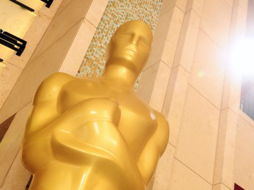 A giant Academy Award statue in Los Angeles (Ian West/PA)
