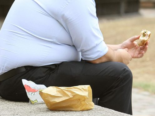 The World Obesity Federation has said hundreds of thousands of Covid-19 deaths could have been avoided if the obesity epidemic had been tackled (Dominic Lipinski/PA)