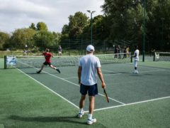 A combination of coronavirus restrictions and grassroots initiatives drove a tennis boom in 2020 (Running Iron/handout)