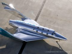 Virgin Galactic unveiled its third spaceship on Tuesday (Virgin Galactic/PA)