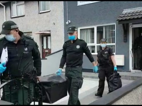 Five men have been arrested following raids targeted alleged drug dealing by a paramilitary group in Northern Ireland (National Crime Agency/PA)