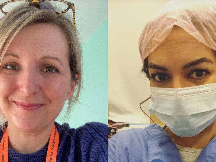 NHS nurses Holly Turner and Ameera Sheikh (Holly Turner/Ameera Sheikh)