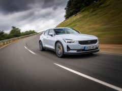The Polestar 2 features an electric motor on each axle