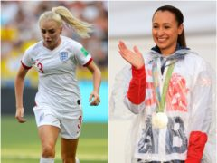Alex Greenwood and Jessica Ennis-Hill (PA)