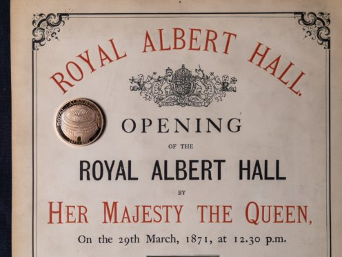 A Royal Albert Hall coin produced by the Royal Mint (Royal Mint/PA)
