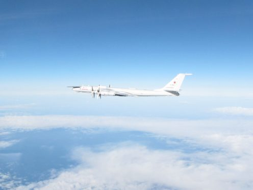 The Typhoons at Lossiemouth were sent to intercept the Russian aircraft (RAF/PA)