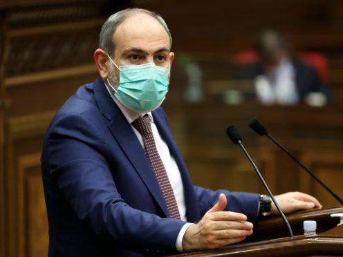 Armenian Prime Minister Nikol Pashinyan (Tigran Mehrabyan/PAN Photo via AP)