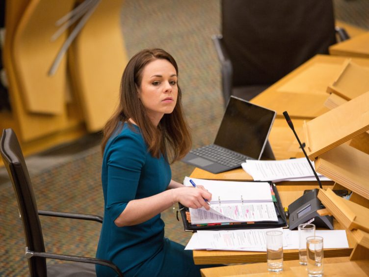 Finance Secretary Kate Forbes questioned why the Economy Committee had brought forward a Bill to curb ministers' early access to official data (Robert Perry/PA)