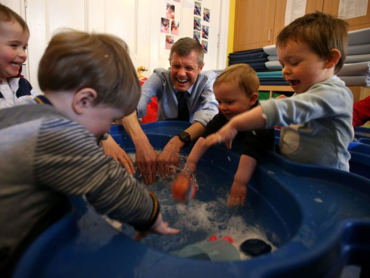 Liberal Democrats want children to benefit from play-based learning up until the age of seven. (Andrew Milligan/PA)