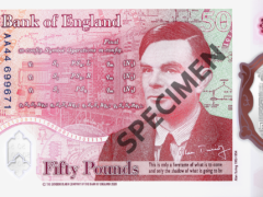 The new Alan Turing banknote (Bank of England/PA)