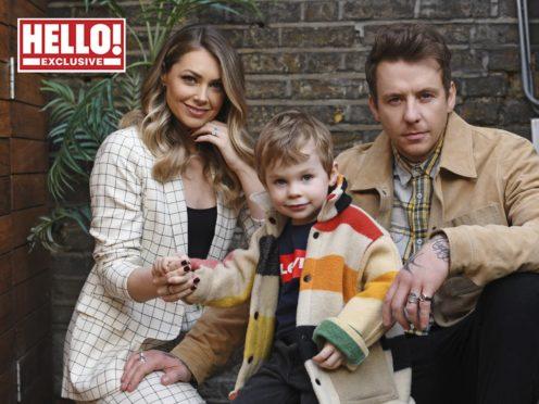Danny and Georgia Jones with their son Cooper (Hello! magazine/PA)