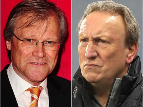 David Neilson, who plays Roy Cropper, and Neil Warnock (right) (Ian West/Mike Egerton/PA)
