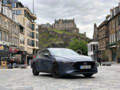 The Mazda3 in Edinburgh last year