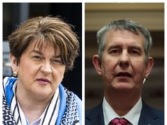 Arlene Foster and Edwin Poots (PA)
