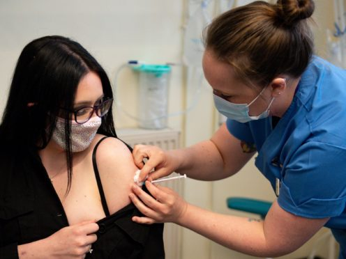 More than half of Scotland's population have now had at least one does of the coronavirus vaccine (Jacob King/PA)